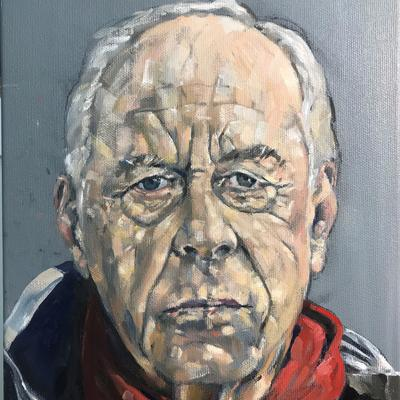 Portrait of Tim Davison - oil on canvas - 40 x 30cm