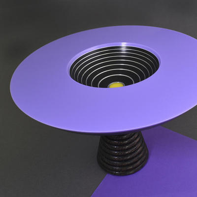 Lilac acrylic topped bowl