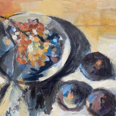 Grapevine and Figs - oil on board
