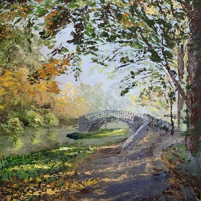 """Discovering Bridges"" - images of Oxford. Oil. Palette knife."