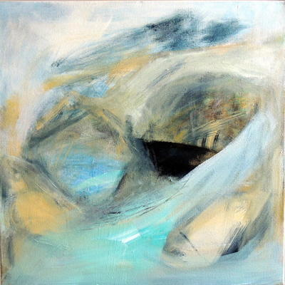 Sea air, acrylic on canvas, 50x50cms, £120 framed