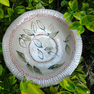 Porcelain leaf bowl