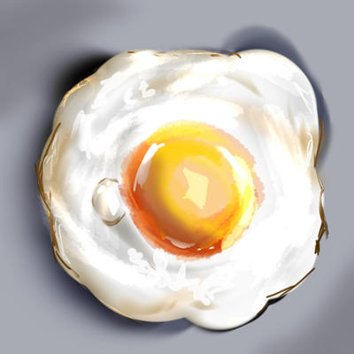 Fried Egg, painting