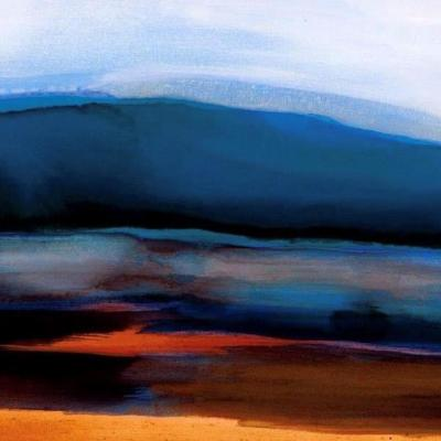 'Crepuscular 5' . Scotland. Canvas digital print of original Oil on canvas.