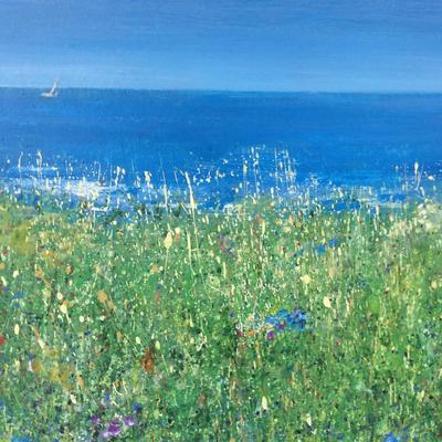 Summer's Breeze.  Acrylic on Board  65cm x65cm was  unframed £325