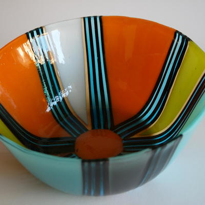 Brightly coloured large bowl £100 25cm wide 10cm high