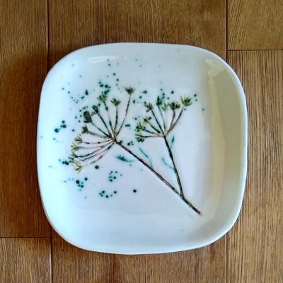 Fennel Seed head square platter 20cm sq  £40 plus p&p
