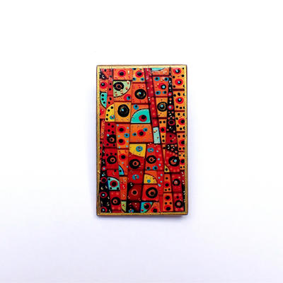 Norwich Cathedral stained glass - brooch