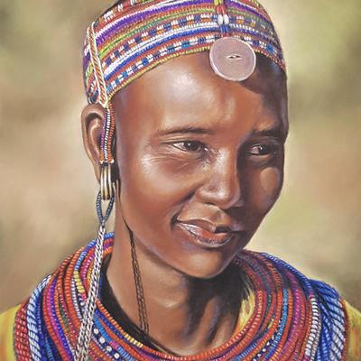 Samburu Beauty - Pastel on Pastelmat 30 x 40cm, £300