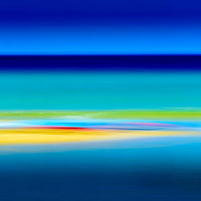 Vibrant abstract seascape of a Cornish beach