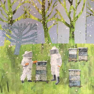 Blossom Breezes and Bees (cropped ) Acrylic