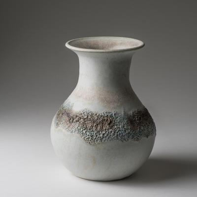 Large jug with band of volcanic glaze