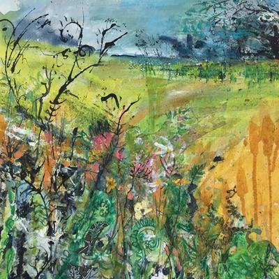 Summer hedgerow - Mixed media