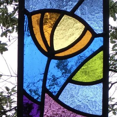 Beginners stained glass panel