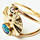 Mycenae gold ring with opal and diamond by Cloelea Jewellery