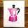Pink Lino Print Moka Pot