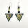 Syrian Tiles - photomontage/hand painted drop earrings (2.5cms) £28