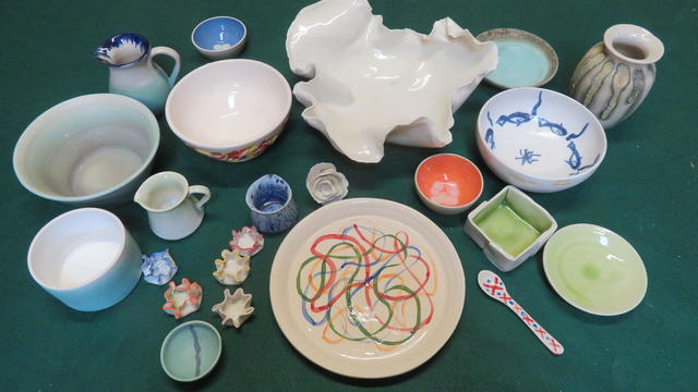 A range of ceramics in porcelain and stoneware