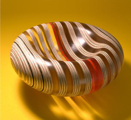 plywood and acrylic bowl by Graham Lester