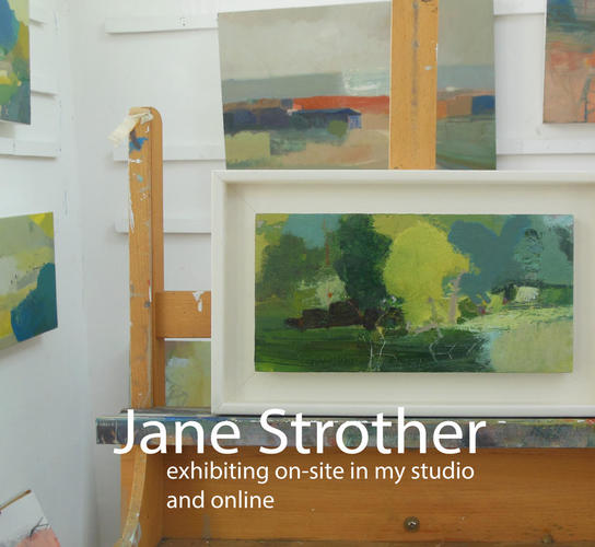 Jane Strother on-site studio exhibition and online