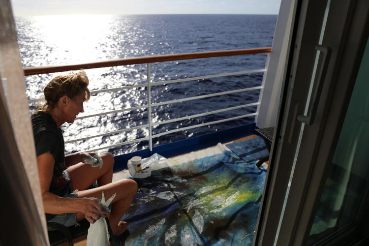 working on ship Cuba to Colombia