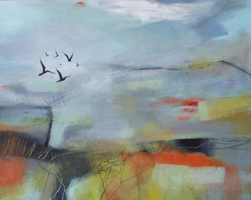 Spring Heatwave 50cm x 40cm on box canvas
