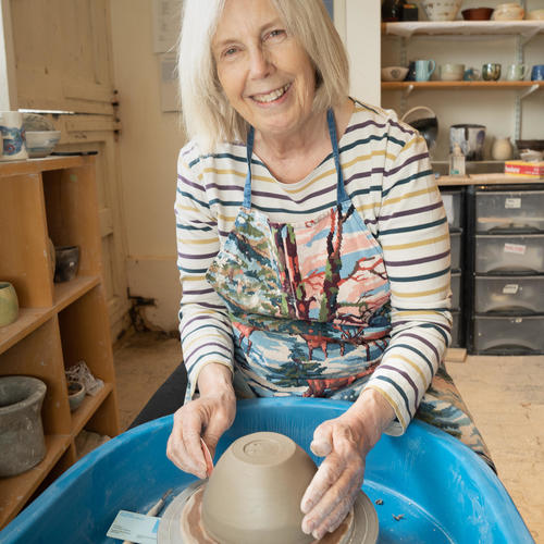 Nelly Stanbury at the Old Forge Pottery in Eynsham
