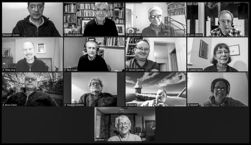 The Oxford Photographers exhibiting group in a recent Zoom call