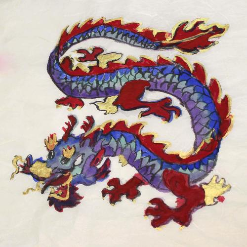 Welcome to Oxfordshire Chinese Brush Painting Group:  The Friendly Dragon:  by Jean Wykes