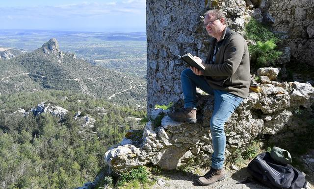 At work at Kantara Castle, Cyprus, 2019.
