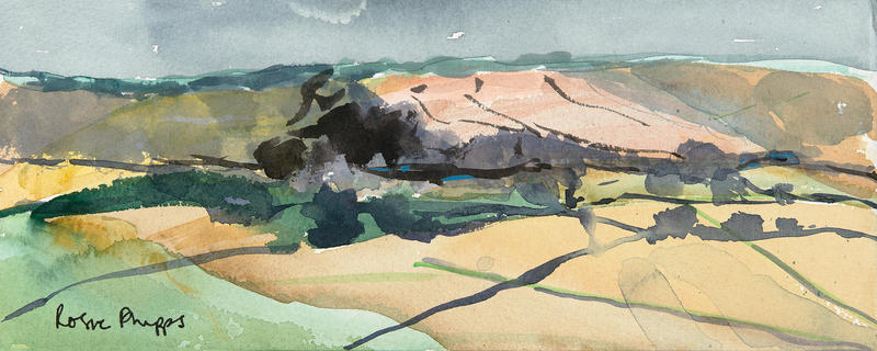The Cotswolds watercolour Rosie Phipps