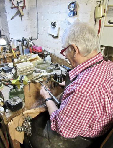 Tony Thomson at his workshop bench