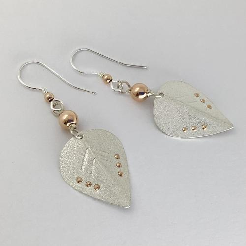 Silver and Rose gold earrings